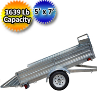DK2 5' x 7' Mighty Multi Utility Trailer Galvanized Steel - MMT5X7G