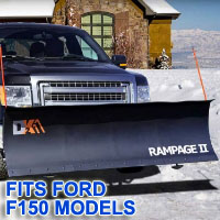 "Ford F150 Snow Plows - Brand New 82"" x 19"" DK2 RAMPAGE II Electric Snow Plow"