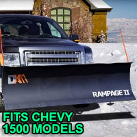 "Chevy 1500 Snow Plow - Brand New 82"" x 19"" DK2 RAMPAGE II Electric Snow Plow"