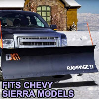 "Chevy Sierra Snow Plow - Brand New 82"" x 19"" DK2 RAMPAGE II Electric Snow Plow"