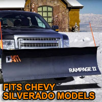 "Chevy Silverado Snow Plow - Brand New 82"" x 19"" DK2 RAMPAGE II Electric Snow Plow"