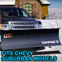"Chevy Suburban Snow Plow - Brand New 82"" x 19"" DK2 RAMPAGE II Electric Snow Plow"