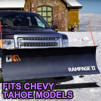 "Chevy Tahoe Snow Plow - Brand New 82"" x 19"" DK2 RAMPAGE II Electric Snow Plow"