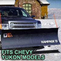 "Chevy Yukon Snow Plow - Brand New 82"" x 19"" DK2 RAMPAGE II Electric Snow Plow"