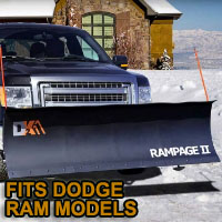 "Dodge Ram Snow Plow - Brand New 82"" x 19"" DK2 RAMPAGE II Electric Snow Plow"