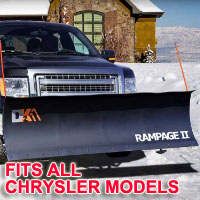 "Fits All Chrysler Models - Brand New 82"" x 19"" DK2 RAMPAGE II Electric Snow Plow"