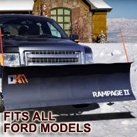"Fits All Ford Models - Brand New 82"" x 19"" DK2 RAMPAGE II Electric Snow Plow"