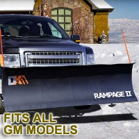 "Fits All GM Models - Brand New 82"" x 19"" DK2 RAMPAGE II Electric Snow Plow"
