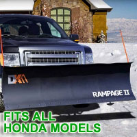 "Fits All Honda Models - Brand New 82"" x 19"" DK2 RAMPAGE II Electric Snow Plow"