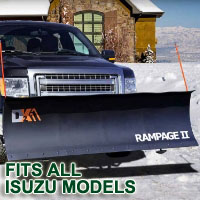 "Fits All Isuzu Models - Brand New 82"" x 19"" DK2 RAMPAGE II Electric Snow Plow"