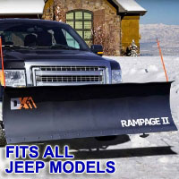 "Fits All Jeep Models - Brand New 82"" x 19"" DK2 RAMPAGE II Electric Snow Plow"