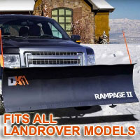 "Fits All Landrover Models - Brand New 82"" x 19"" DK2 RAMPAGE II Electric Snow Plow"