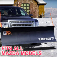 "Fits All Mazda Models - Brand New 82"" x 19"" DK2 RAMPAGE II Electric Snow Plow"