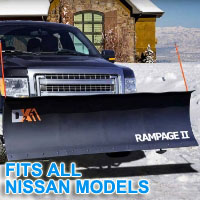 "Fits All Nissan Models - Brand New 82"" x 19"" DK2 RAMPAGE II Electric Snow Plow"