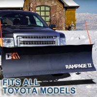 "Fits All Toyota Models - Brand New 82"" x 19"" DK2 RAMPAGE II Electric Snow Plow"