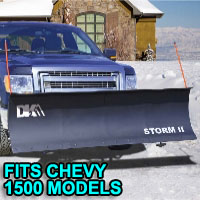 "Chevy 1500 Snow Plows - Brand New 84"" x 22"" DK2 STORM II Electric Snow Plow"
