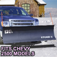 "Chevy 2500 Snow Plows - Brand New 84"" x 22"" DK2 STORM II Electric Snow Plow"