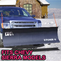 "Chevy Sierra Snow Plows - Brand New 84"" x 22"" DK2 STORM II Electric Snow Plow"