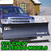 "Chevy Silverado Snow Plows - Brand New 84"" x 22"" DK2 STORM II Electric Snow Plow"