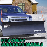 "Chevy Suburban Snow Plows - Brand New 84"" x 22"" DK2 STORM II Electric Snow Plow"