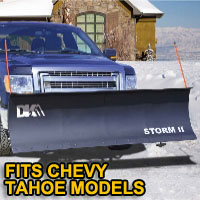 "Chevy Tahoe Snow Plows - Brand New 84"" x 22"" DK2 STORM II Electric Snow Plow"