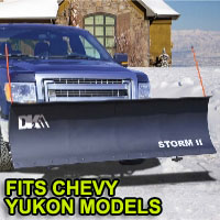 "Chevy Yukon Snow Plows - Brand New 84"" x 22"" DK2 STORM II Electric Snow Plow"