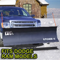 "Dodge Ram Snow Plows - Brand New 84"" x 22"" DK2 STORM II Electric Snow Plow"