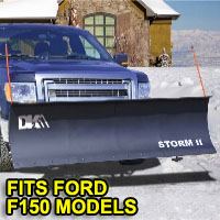 "Ford F150 Snow Plows - Brand New 84"" x 22"" DK2 STORM II Electric Snow Plow"