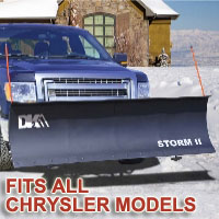 "Fits All Chrysler Models - Brand New 84"" x 22"" DK2 STORM II Electric Snow Plow"