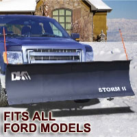 "Fits All Ford Models - Brand New 84"" x 22"" DK2 STORM II Electric Snow Plow"