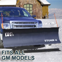"Fits All GM Models - Brand New 84"" x 22"" DK2 STORM II Electric Snow Plow"