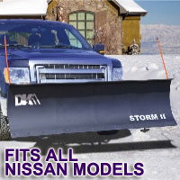 "Fits All Nissan Models - Brand New 84"" x 22"" DK2 STORM II Electric Snow Plow"