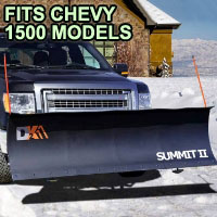 "Chevy 1500 Snow Plow - Brand New 88"" x 26"" DK2 SUMMIT II Electric Snow Plow"