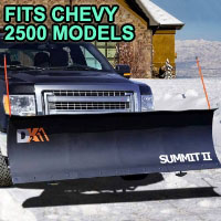 "Chevy 2500 Snow Plow - Brand New 88"" x 26"" DK2 SUMMIT II Electric Snow Plow"