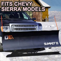 "Chevy Sierra Snow Plow - Brand New 88"" x 26"" DK2 SUMMIT II Electric Snow Plow"