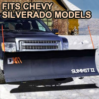 "Chevy Silverado Snow Plow - Brand New 88"" x 26"" DK2 SUMMIT II Electric Snow Plow"