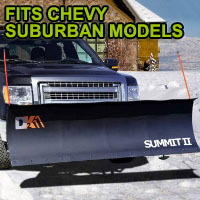 "Chevy Suburban Snow Plow - Brand New 88"" x 26"" DK2 SUMMIT II Electric Snow Plow"
