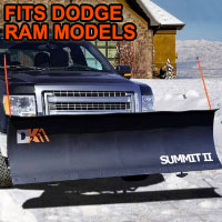 "Dodge Ram Snow Plow - Brand New 88"" x 26"" DK2 SUMMIT II Electric Snow Plow"