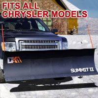 "Fits All Chrysler Models - Brand New 88"" x 26"" DK2 SUMMIT II Electric Snow Plow"