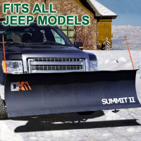 "Fits All Jeep Models - Brand New 88"" x 26"" DK2 SUMMIT II Electric Snow Plow"