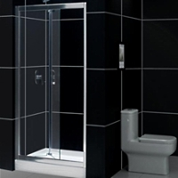 "32"" x 72"" Adjustable Bi-Fold Frameless Shower Door"