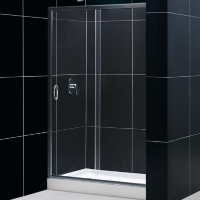 "Dreamline Infinity 48"" x 72"" Adjustable Single Sliding Shower Door"
