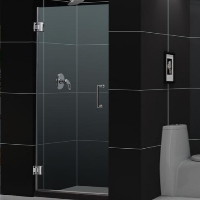 "DreamLine 23"" - 30"" x 72"" Hinged Shower Door with 3/8"" Glass Thickness"