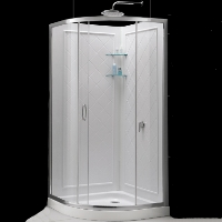 "Dreamline Solo 31.375"" x 31.375"" x 72"" Shower Enclosure"