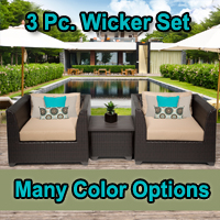 Brand New 2015 Beach 3 Piece Outdoor Wicker Patio Furniture Set