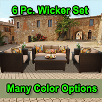 Brand New 2015 Beach 6 Piece Outdoor Wicker Patio Furniture Set