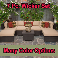 Brand New 2015 Beach 7 Piece Outdoor Wicker Patio Furniture Set