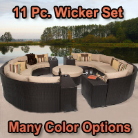 Brand New 2015 Beach 11 Piece Outdoor Wicker Patio