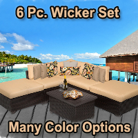 Brand New 2015 Cabana 6 Piece Outdoor Wicker Patio Furniture Set