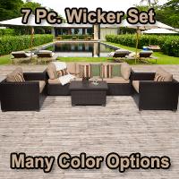 Premium 6 Piece Outdoor Wicker Patio Furniture Set